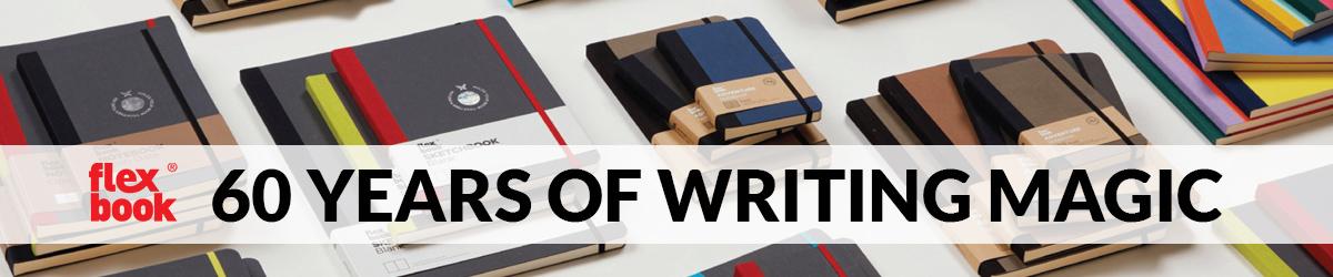 Flexbook notesbøger og kalendere i forskellige størrelser og farver